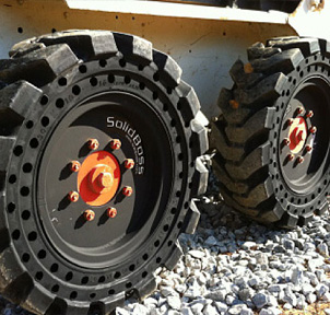 Solid Skid Steer Replacement Tires