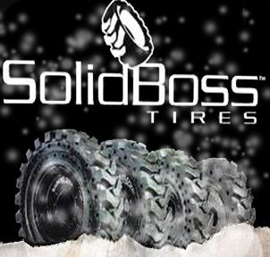 Winter Solid Skid Steer Tires