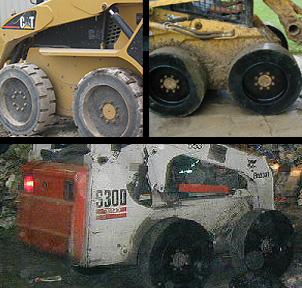 Solid Skid Steer Expandable Tires