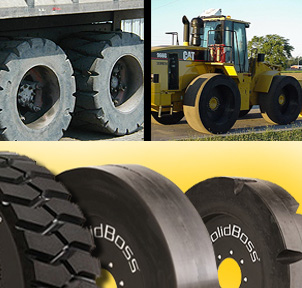 Solid Skid Steer Aperture Tires
