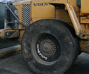 spring solid skid steer tire